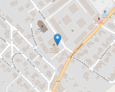 Adresse Caf de l'Ardèche - Point relais de La Voulte