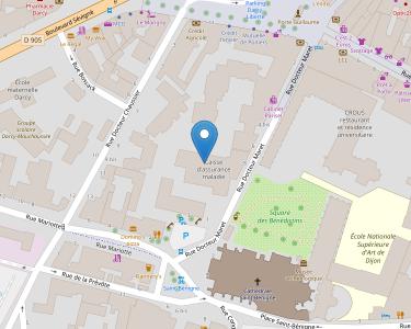 Adresse CPAM de Côte-d'Or - accueil de Dijon - Darcy-Maret